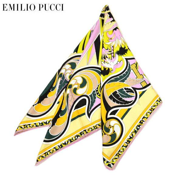スカーフ エミリオプッチ レディース EMILIO PUCCI プッチ柄シルクスカーフ(サイズ90×90cm)eep19w113 JR485 4 イエロー