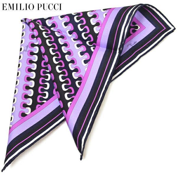 ポケットチーフ エミリオプッチ メンズ EMILIO PUCCI プッチ柄シルクポケットチーフ(サイズ32×32cm)eep19w147 ラベンダー