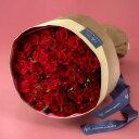 【日比谷花壇】 60本の赤バラの花束「アニバーサリーローズ」...