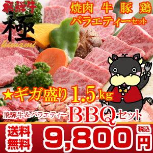 【バーベキューセット】THE焼肉★ギガ盛り1.5kg BBQセット飛騨牛入り みんなで バーベ…
