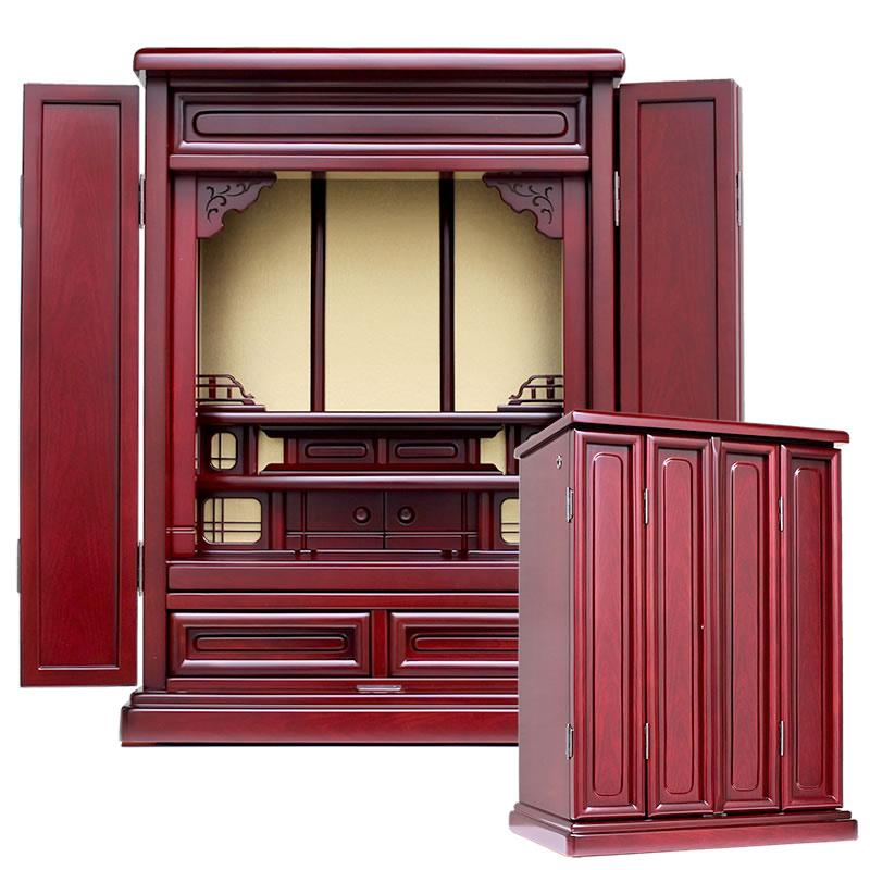 唐木仏壇・なずな 20号【仏壇】【唐木仏壇】シンプルデザインにプラスαを加えた格安価格ながら必要な機能を盛り込みどんなお部屋にも合わせやすいお仏壇です:仏壇・仏具・位牌のひだまり仏壇