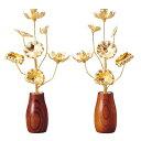 真鍮常花 11本立 7寸 消金 (単品)【供え物】【造花】【モダン仏具】【仏壇】【7号】【じょうか】