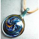 ボロシリケイト ガラスペンダントトップ (1) ■ ハンドメイド アクセサリー ネックレス 【あす楽対応】
