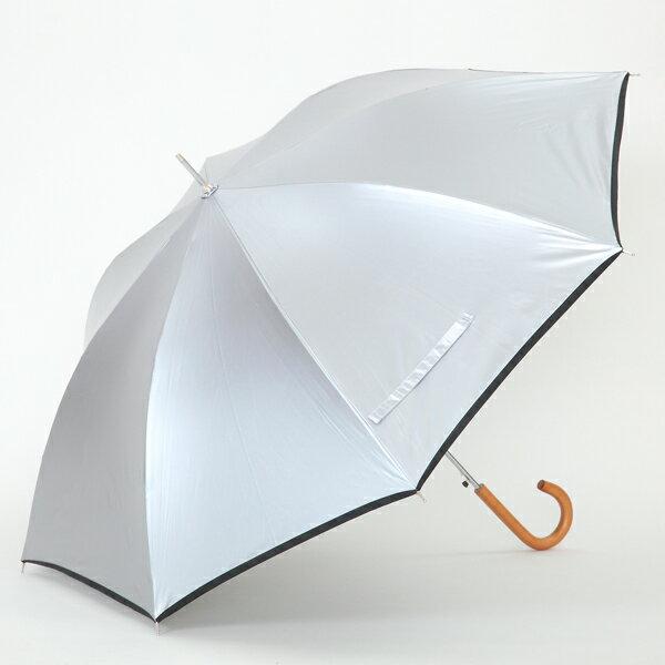 【あす楽】【UPF50+ UVカット率・遮光率99%以上 遮熱効果で木陰も涼しさ】UV晴雨兼用 ジャンプ傘 シルバー 60cm×8本骨 ひんやり傘 【LIEBEN-0102】 8色カラー 男女兼用/男の日傘/男性用/メンズ/レディース hnaga
