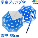 【あす楽】キッズ ジャンプ傘 青空 55cm×8本骨 【LIEBEN-...