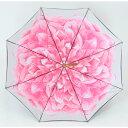 【在庫処分品】傘 レディース ジャンプ傘 八重桜 ネイビー 60cm×8本骨 おしゃれ 雨傘 長傘 花柄 ギフト 【LIEBEN-0481】 naga 3