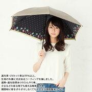 UV晴雨兼用ミニ傘ストロベリー50cm×6本骨<ひんやり傘>シャンパンゴールド
