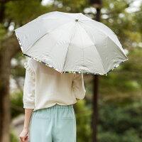 【送料無料・UVカット率99%・遮光率99.99%遮光1級・遮熱】UV晴雨兼用傘折傘遮光アンティークゴールド花柄50cm×8本骨【LIEBEN-0595】<ひんやり傘>折りたたみ傘日傘レディース遮光傘