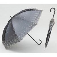 【UVカット率99%15分後に8℃以上の差遮熱日傘】UV長傘シルバーレース55cm×8本骨花柄<ひんやり傘>日がさ