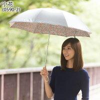 UV晴雨兼用折りたたみ傘シルバー/小花