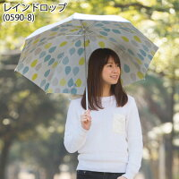 UV晴雨兼用折りたたみ傘シルバー/レインドロップ