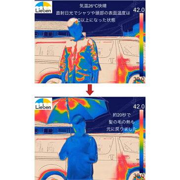 日光を反射し木陰の涼しさ!大きいミニ傘 シルバー 60cm×6本骨 ひんやり傘 UPF50+ UVカット率・遮光率99%以上 遮熱効果 晴雨兼用 折りたたみ hmini【LIEBEN-0587】