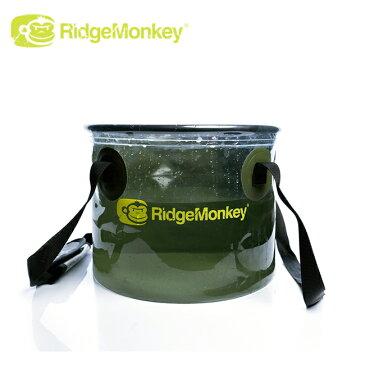【スマホエントリー限定 P10倍 6月18日10時スタート】● RidgeMonkey リッジモンキー Perspective Collapsible Bucket 10L パースペクティブコラプシブルバケツ 【折りたたみ式/水/アウトドア/キャンプ】