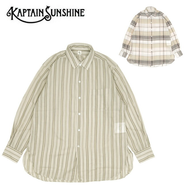 トップス, カジュアルシャツ KAPTAIN SUNSHINE Regular Collar Shirt KS21SSH11