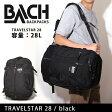 即日発送 BACH BACKPACKS バッハバックパックス TRAVELSTAR28 black 132501 【カバン】 バックパック お買い得!