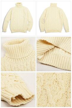ケリーウーレンミルズ Kerry Woollen Mills セーター Aran Cable Polo Neck LITE 【服】ハイネック【即日発送】