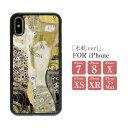 スマホケース 絵画 ハードケース 背面 TPU「グスタフ・クリムト/水蛇 .ver1」 iPhone7 iPhone8……