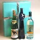 ■送料無料■猫好きの方のプレゼントに!猫ワイン3本セット (色々)白ワインセット【白S】ラッ...