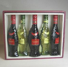 ユニークな魚の形のボトルが楽しいペッシェヴィーノ、箱入りのイタリアワイン!!ギフト・ラッ...