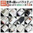 ■□送料無料□■ 自然派ワイン2本入り 赤ワインばっかり12本セット フランス、イタリア、スペインにニューワールド【赤ワインセット 12本】