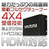 【ポイント最大16倍&クーポン5%OFF】1年保証 次世代車載用フルセグ ワンセグ 12V 24V 車 地デジチューナー 4×4 フルセグチューナー AV HDMI出力対応!高性能4×4 フルセグ 地デジ フィルムアンテナ#