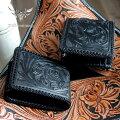 送料無料!【mudmonkey】二つ折り財布カービングウォレット・ショート/ブラック