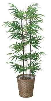光触媒光の楽園黒竹【インテリアグリーンフロアタイプ人工観葉植物】高さ1.2m
