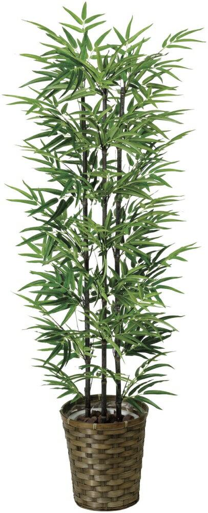 光触媒 光の楽園 黒竹 高さ1.35m 幹:天然竹【インテリアグリーン 人工観葉植物】