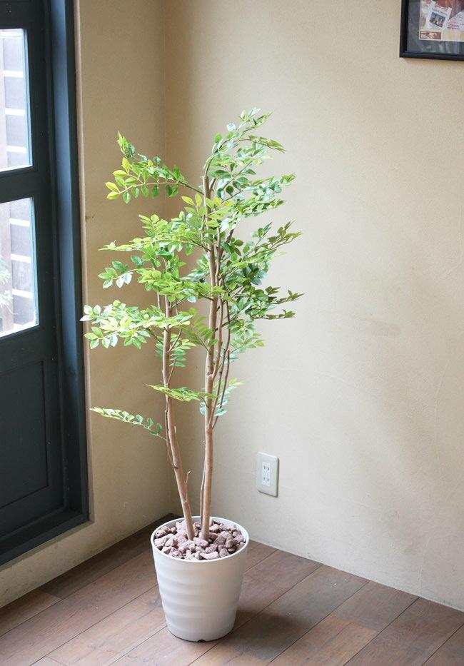光触媒 人工観葉植物光の楽園 ゴールデンリーフ 高さ1.25mフェイクグリーン 大型人工観葉植物