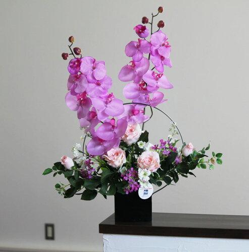 光触媒 胡蝶蘭光の楽園 満月(胡蝶蘭・コチョウランアレンジ)造花 インテリア 人工植物