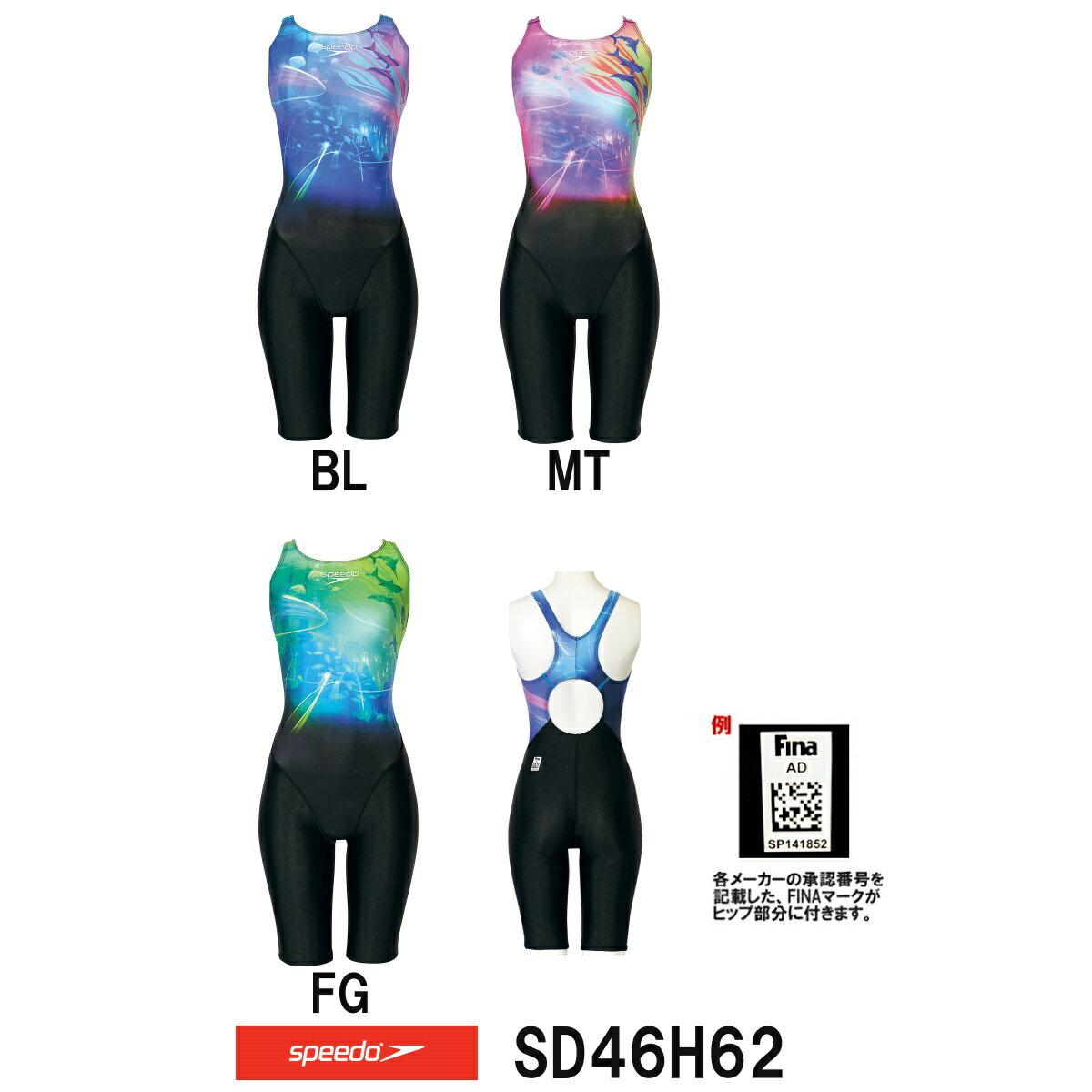 【SD46H62】SPEEDO(スピード)レディース競泳水着FLEXΣウイメンズセミオープンバックニースキン8