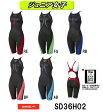 【SD36H02】SPEEDO(スピード) ジュニア女子競泳水着 Fastskin XT Active Hybrid2 ジュニアニースキン[子供用/競泳/ニット素材/FINA承認/スパッツ]