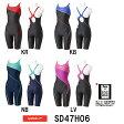 【SD47H06】SPEEDO(スピード) レディース競泳水着 Fastskin XT-W ウイメンズスモールバックニースキン(スイングストラップ)[女性用/競泳/スパッツ/FINA承認]