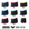 【SAR-6102】ARENA(アリーナ) メンズ競泳練習水着 タフスーツ タフスキンストライプ ショートボックス[競泳水着/練習用/男性用/タフスーツ/長持ち]