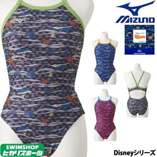 57c9354d1f7 ミズノ MIZUNO 競泳水着 レディース 練習用 ミディアムカット U-Fit [ディズニー・ファインディング