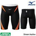 【3点以上のお買い物で4%OFFクーポン配布中】ミズノ MIZUNO 競泳水着 メンズ ハーフスパッツ Stream Aqutiva ストリームフィット2 fina承認モデル マスターズ向き 大きいサイズ(2XL ウェスト87〜93)も有り 男性用 N2MB8040-HK