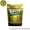 【クーポン利用で更にお値引き】GOLD'S GYM ゴールドジム マルチビタミン&ミネラル90粒 F2500 82234