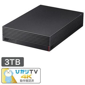 BUFFALO USB3.1/USB3.0用 外付けHDD 3TB HD-NRLD3.0U3-BA