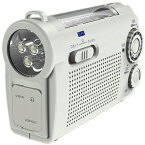 WINTECH 手回し充電ラジオライト ホワイト KDR-107W