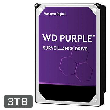 【エントリーでP7倍】 Western DIgItal WD Purple シリーズ 3.5インチ 内蔵 HDD 3TB IntellIpower WD30PURZ-R