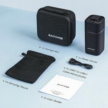 RAVPowerモバイルバッテリー20000mAh/65WAC出力(3P)+USBポート+USB-CRP-PB054