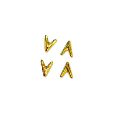 メタルスタッズ V字 ARROW 2.5mm×3.5mm ゴールド /10p入り MP0074
