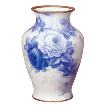 皇室御用達 大倉陶園 日本製 ブルーローズ 45m花瓶 【ギフト 出産内祝 結婚内祝 結婚式引出物 快気祝 法事引出物 香典返し お返し 各種内祝 引出物 景品】
