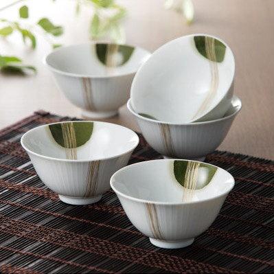 Noritake (ノリタケ) 常葉草 煎茶碗 5客セット 【ギフト 出産内祝 結婚内祝 結婚式引出物 快気祝 各種内祝 引出物】