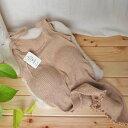オーガニックコットン 生地 女性肌着 キャミソール ブラ付 ( リブ ) 茶綿 オーガニック 有機栽培 コットン 綿 綿100% レディース 女性 婦人 日本製 インナー アンダーウエア 下着 肌着 敏感肌 シャツ スガノ工房