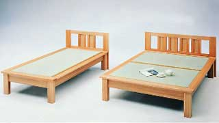 【・日本製】天然素材でしっかり仕上げた畳ベッド・セミダブル:画像1