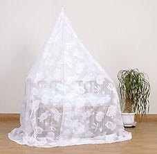 ベビーベッド用蚊帳ウォッシャブル(天蓋)どうぶつ柄:高級ジャガードレース仕様::蚊よけ虫除け動物柄:画像2