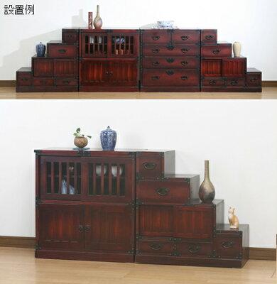 民芸和家具◇階段タンス右下がり::::::和風家具チェストキャビネットたんす:画像3