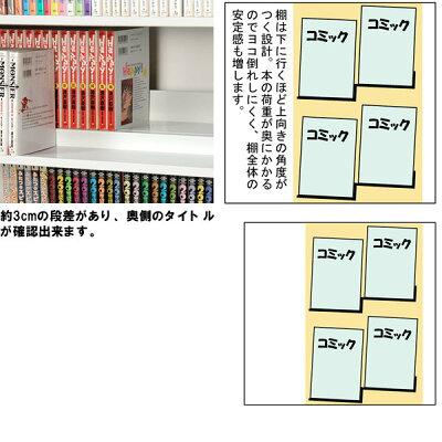 【最大1078冊!】段違い収納コミック本棚::画像3