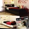 日本製フラップテーブルベッド◇ダブル:マット付::照明・コンセント・引出:送料無料ベッド ベット